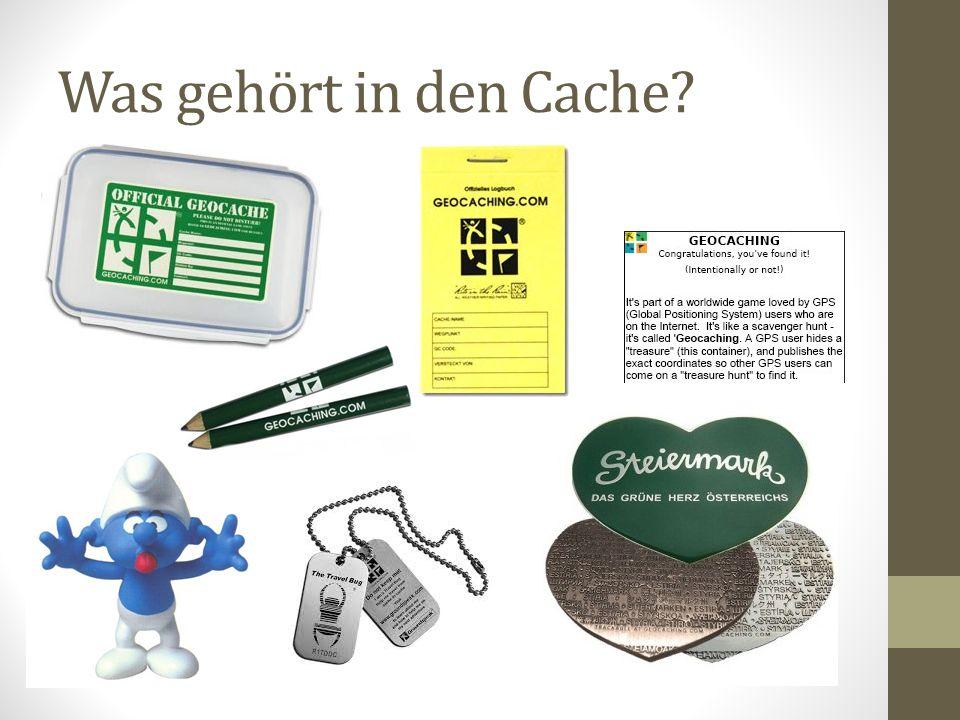 Was gehört in den Cache?