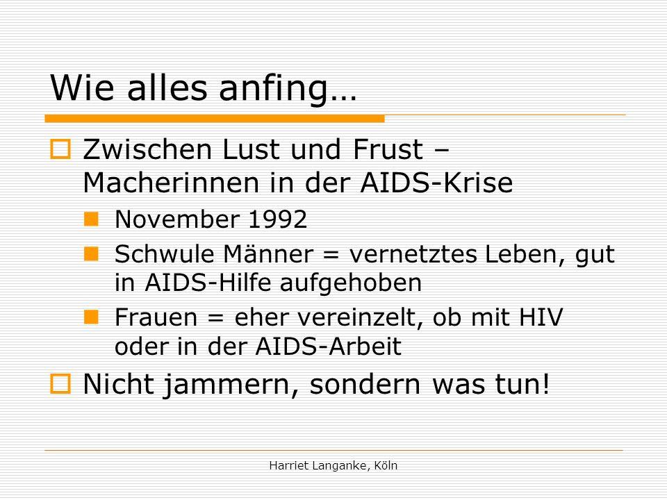 Harriet Langanke, Köln Anspruch das Rad nicht immer wieder neu erfinden müssen… Info-Pool.