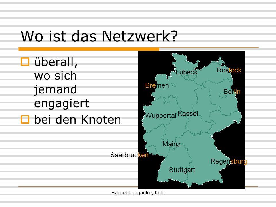 Harriet Langanke, Köln Wo ist das Netzwerk.