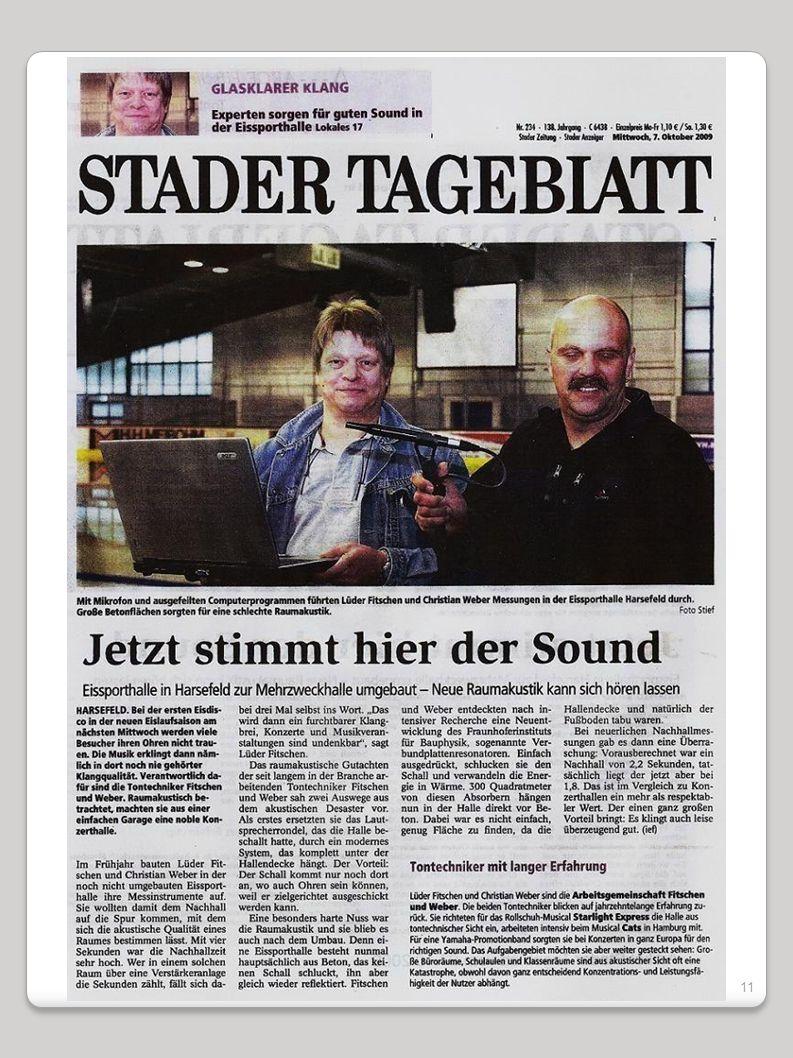 10 - - - ARGE Fitschen & Weber - - - Tontechnik – Raumakustik Beratung - Planung - Sound-Design - Sound-Engineering Bild 7:Zum Vergrößern des Artikels