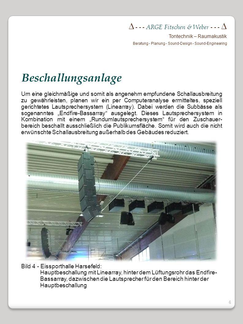 5 - - - ARGE Fitschen & Weber - - - Tontechnik – Raumakustik Beratung - Planung - Sound-Design - Sound-Engineering Wir bringen ein neues vom Fraunhofe