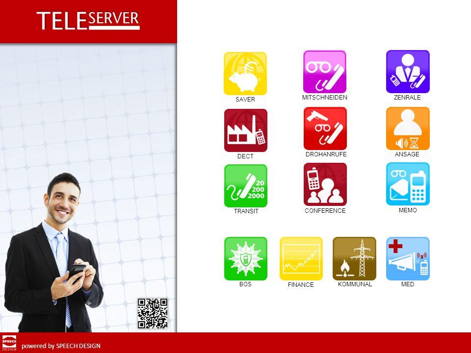 powered by SPEECH DESIGN weiter Mit Teleserver MED wird der Einsatz von Handys im medizinischen Umfeld möglich.