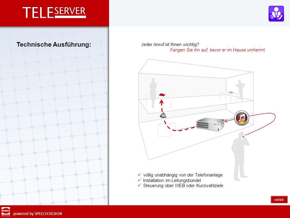 powered by SPEECH DESIGN Mit Teleserver DECT werden handelsübliche Handys in jede TK - Infrastruktur integriert.