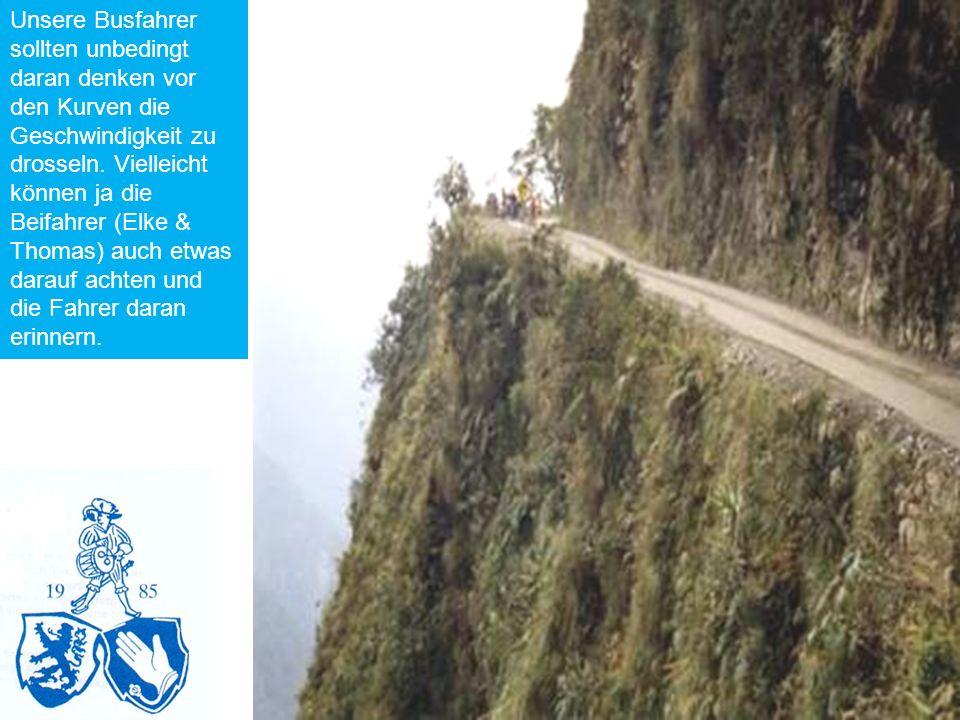 Unsere Busfahrer sollten unbedingt daran denken vor den Kurven die Geschwindigkeit zu drosseln.