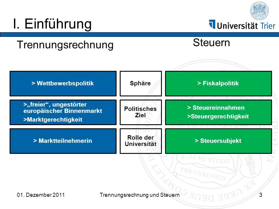 I.Einführung Trennungsrechnung Steuern 01.