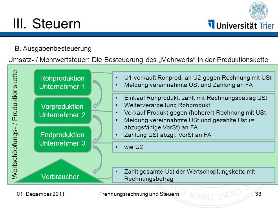 Wertschöpfungs- / Produktionskette III.Steuern 01.