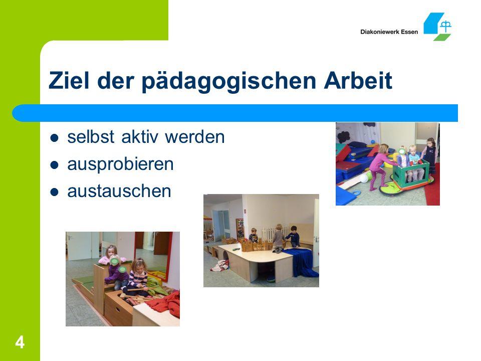 Ziel der pädagogischen Arbeit 4 selbst aktiv werden ausprobieren austauschen