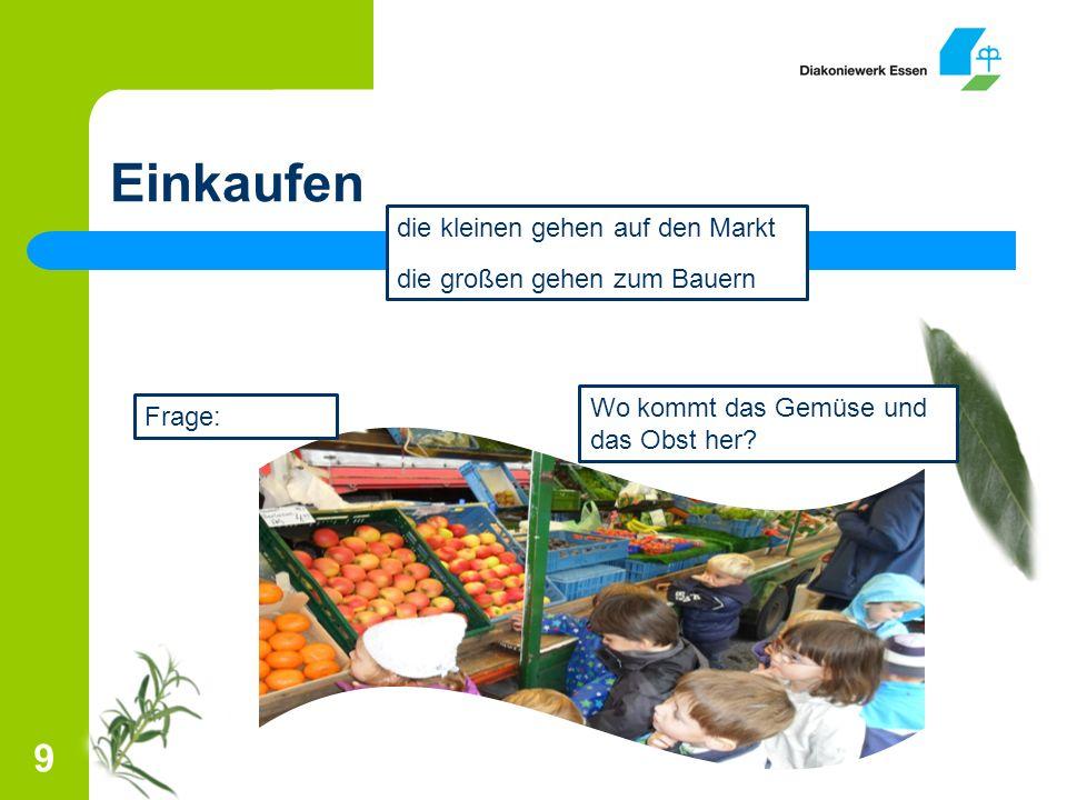 Einkaufen 9 Frage: Wo kommt das Gemüse und das Obst her.