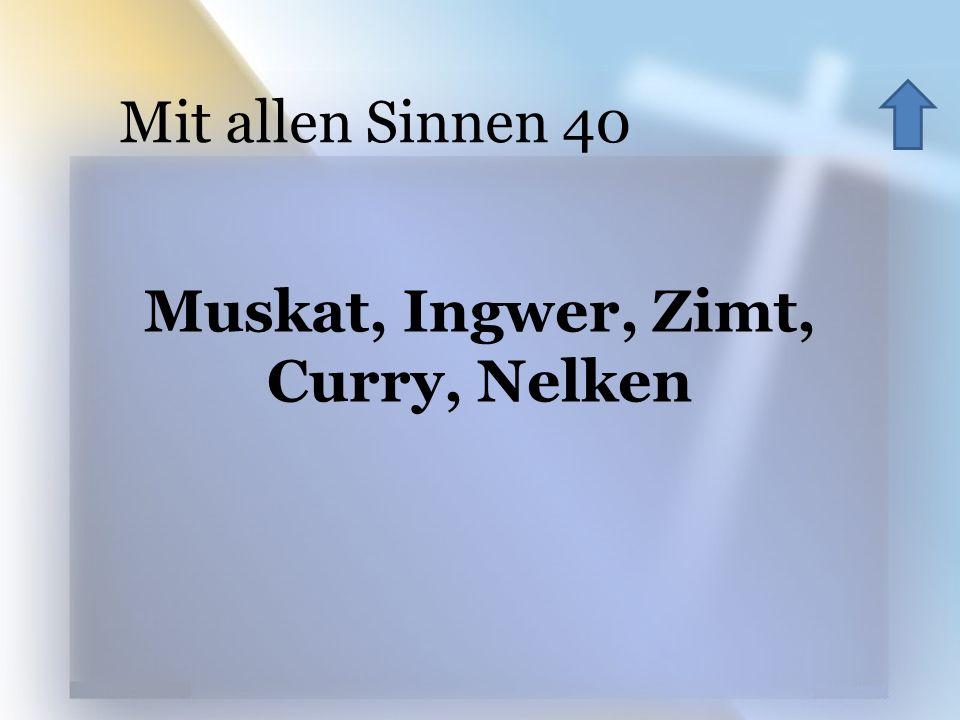 Muskat, Ingwer, Zimt, Curry, Nelken Mit allen Sinnen 40