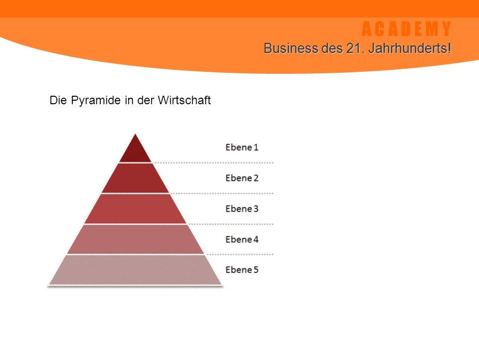 A C A D E M Y Business des 21. Jahrhunderts! Die Pyramide in der Wirtschaft