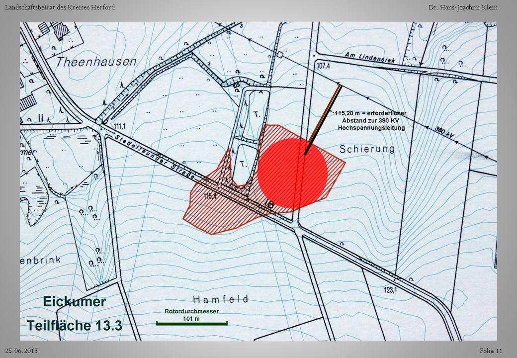 Folie 1125.06.2013 Landschaftsbeirat des Kreises HerfordDr. Hans-Joachim Klein