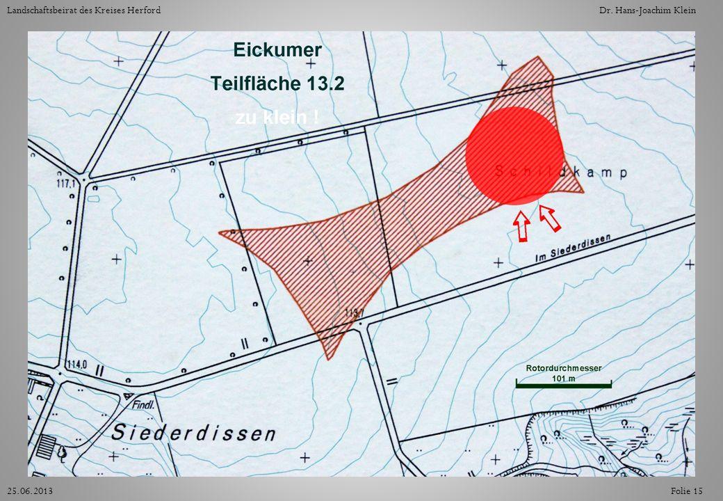 Folie 1525.06.2013 Landschaftsbeirat des Kreises HerfordDr. Hans-Joachim Klein
