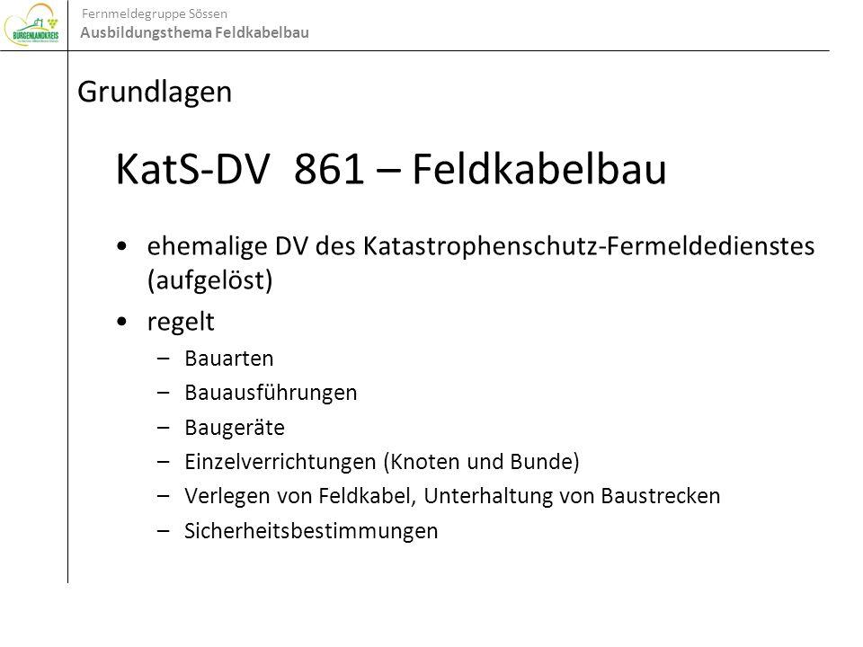Fernmeldegruppe Sössen Ausbildungsthema Feldkabelbau Baugeräte Stangenteile