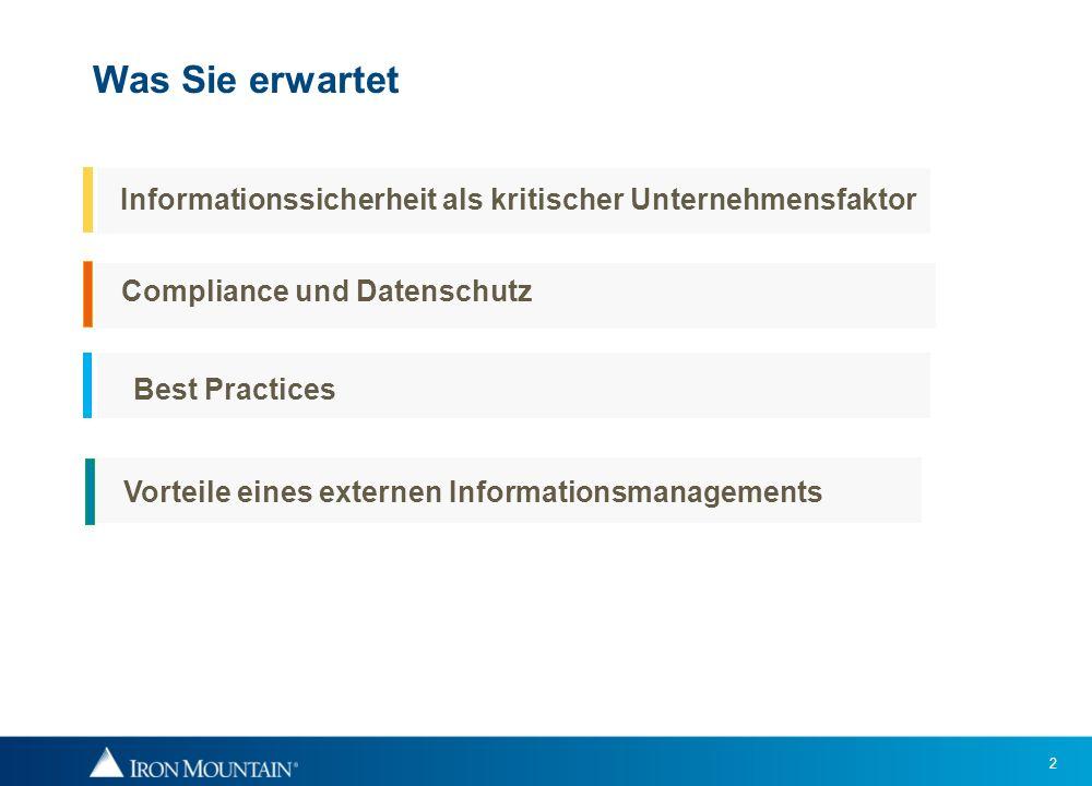 2 Was Sie erwartet Informationssicherheit als kritischer Unternehmensfaktor Compliance und Datenschutz Best Practices Vorteile eines externen Informat