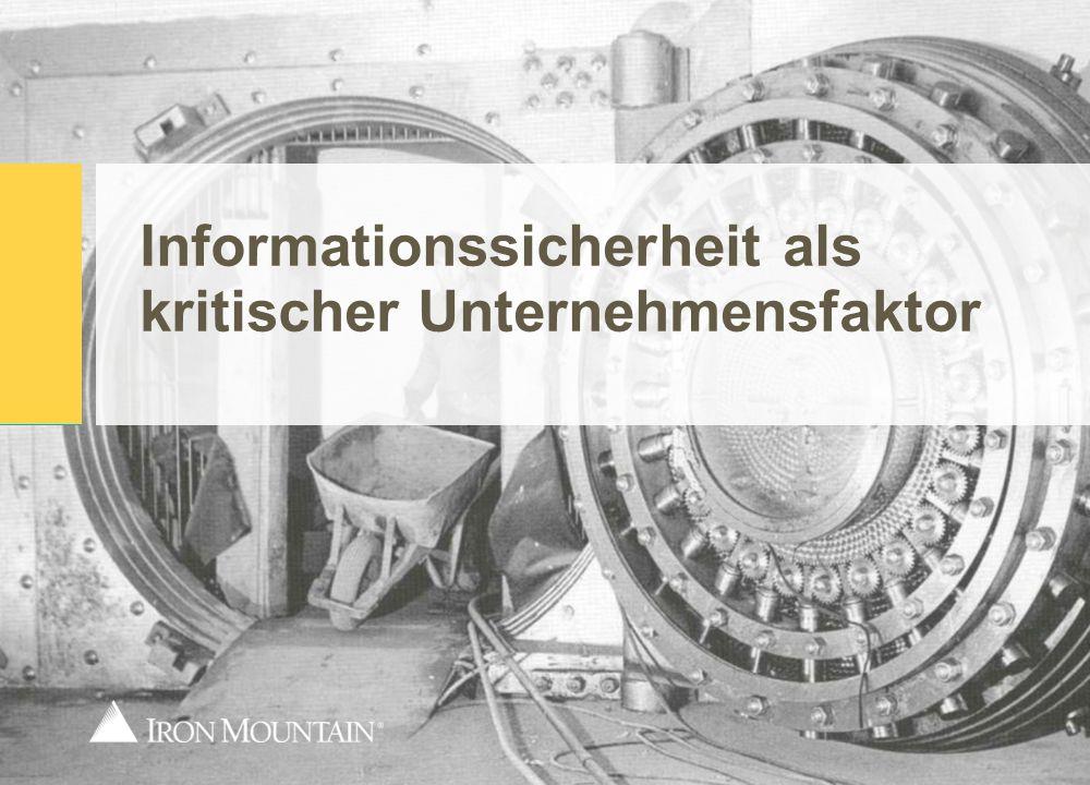 HISTORIE Informationssicherheit als kritischer Unternehmensfaktor