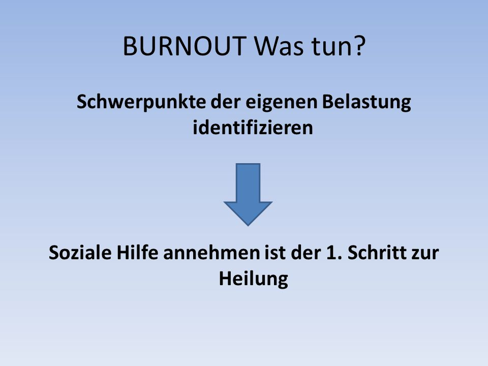 BURNOUT Was tun.