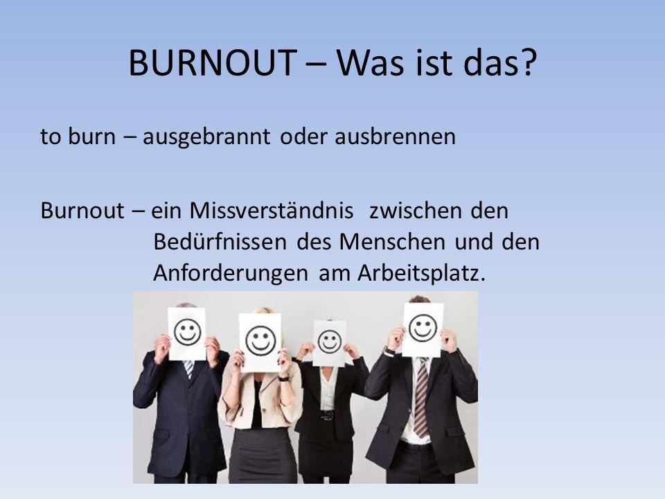 BURNOUT – Was ist das.