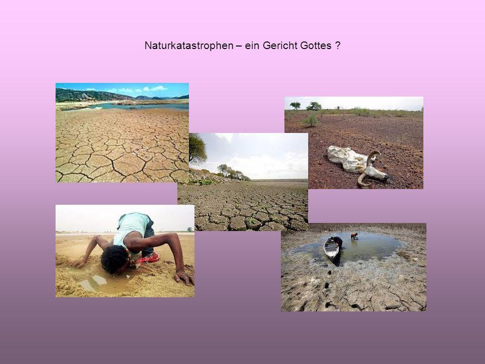 Naturkatastrophen – ein Gericht Gottes ?