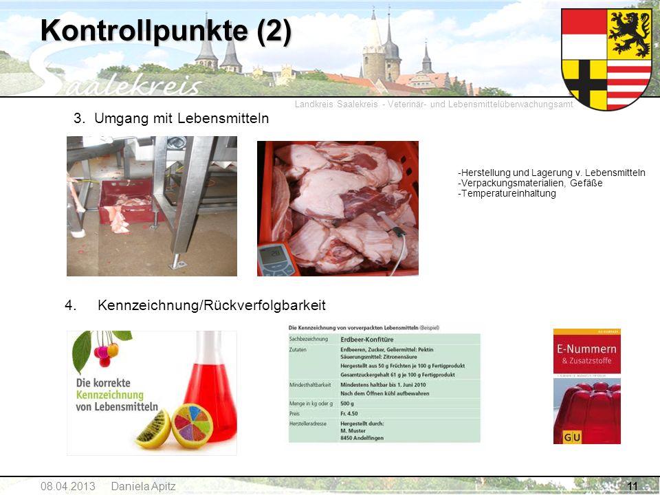 Landkreis Saalekreis - Veterinär- und Lebensmittelüberwachungsamt 11 3. Umgang mit Lebensmitteln -Herstellung und Lagerung v. Lebensmitteln -Verpackun