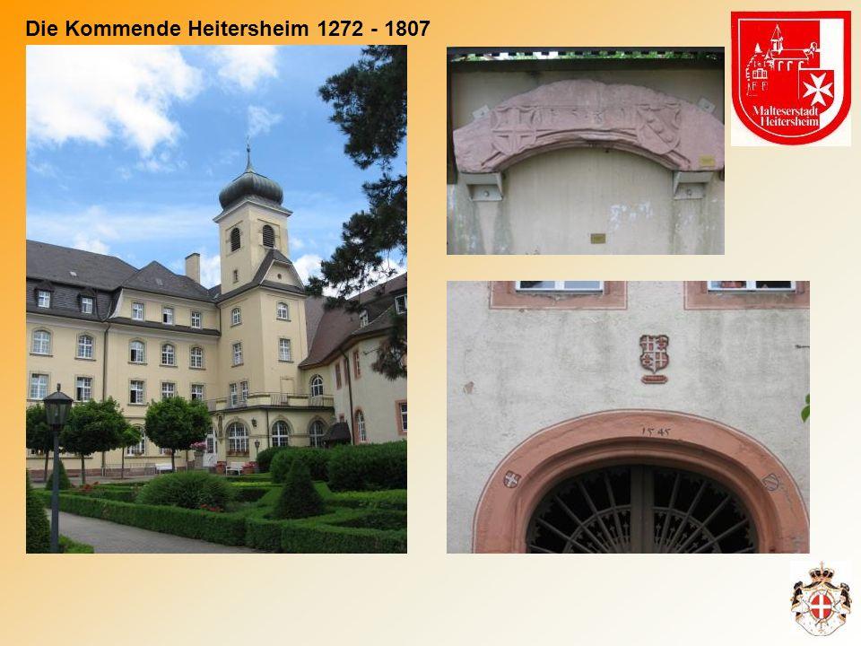 Marschall Gottfried von Staufen übergab im Jahre 1272 seinen Hof und seine Kirche in Heitersheim an die Kommende Freiburg des Johanniterordens.