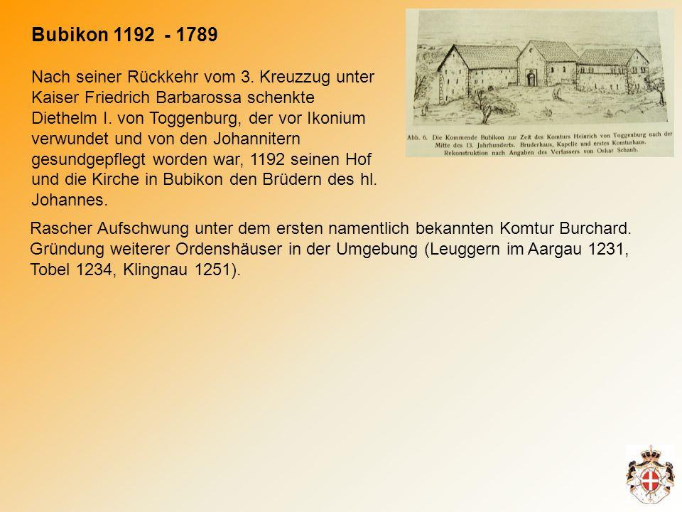 Nach seiner Rückkehr vom 3.Kreuzzug unter Kaiser Friedrich Barbarossa schenkte Diethelm I.
