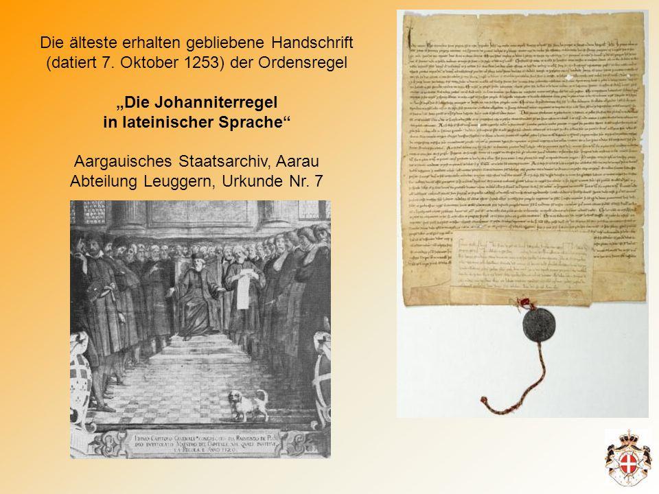 Die älteste erhalten gebliebene Handschrift (datiert 7.