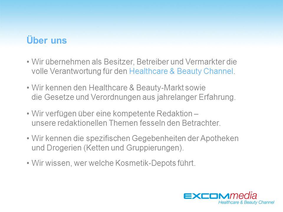 Wir übernehmen als Besitzer, Betreiber und Vermarkter die volle Verantwortung für den Healthcare & Beauty Channel.