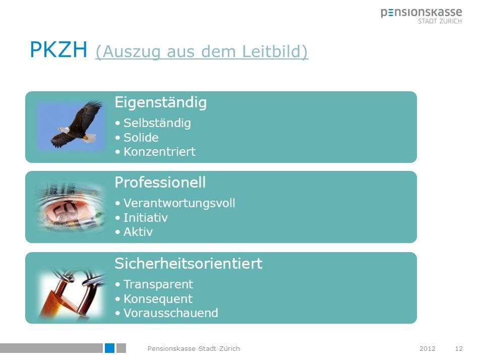 PKZH (Auszug aus dem Leitbild) (Auszug aus dem Leitbild) Eigenständig Selbständig Solide Konzentriert Professionell Verantwortungsvoll Initiativ Aktiv
