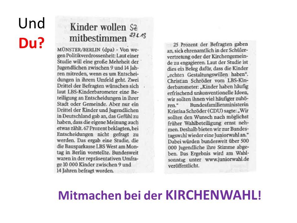 Gewählt wird: Landessynode Orts- gemeinde Landes- kirche Kirchengemeinderat