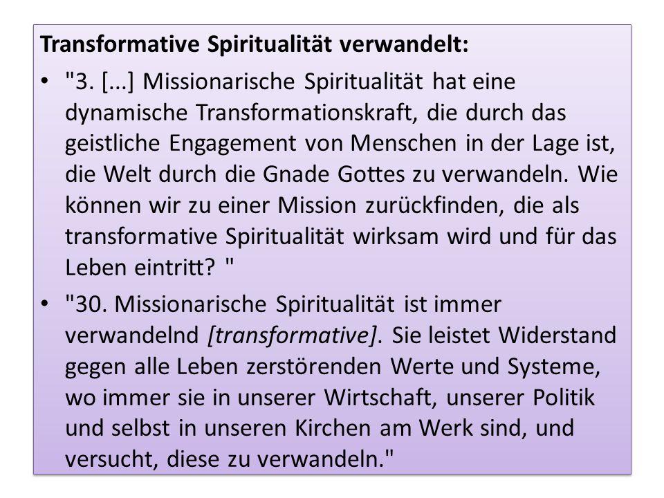 Transformative Spiritualität verwandelt: