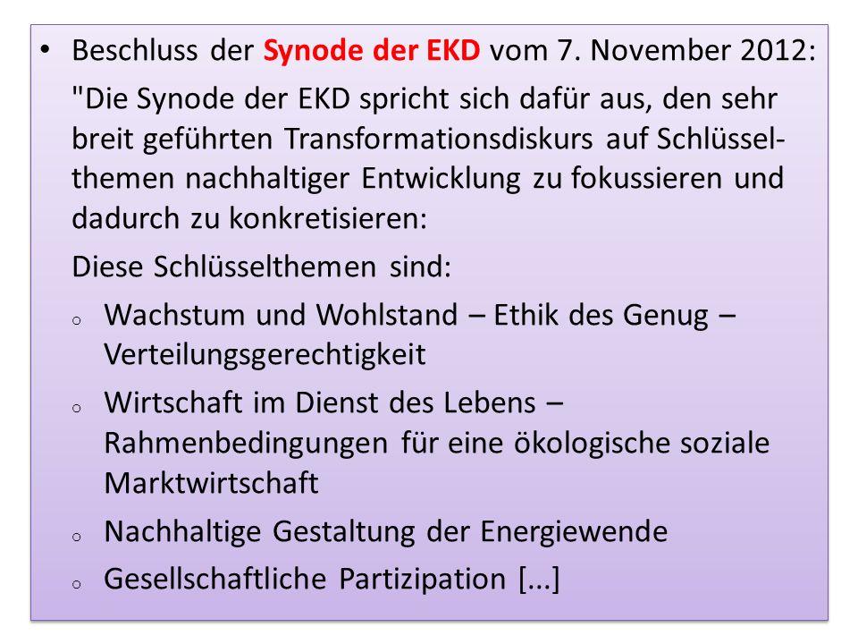 Beschluss der Synode der EKD vom 7. November 2012: