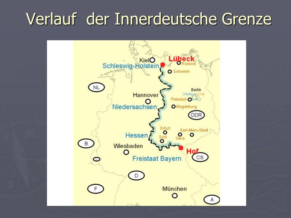 Verlauf der Innerdeutsche Grenze Verlauf der Innerdeutsche Grenze