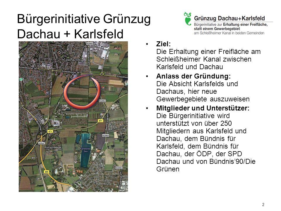 Städtebauliche Entwicklung Karlsfeld ist historisch ohne Zentrum gewachsen Die städtebaulichen Defizite sollen jetzt durch die Entwicklung der zentralen Flächen behoben werden Die Ausweisung eines neuen Gewerbegebietes am äußersten Ende Karlsfelds setzt die Fehlentwicklungen aus der Vergangenheit fort.