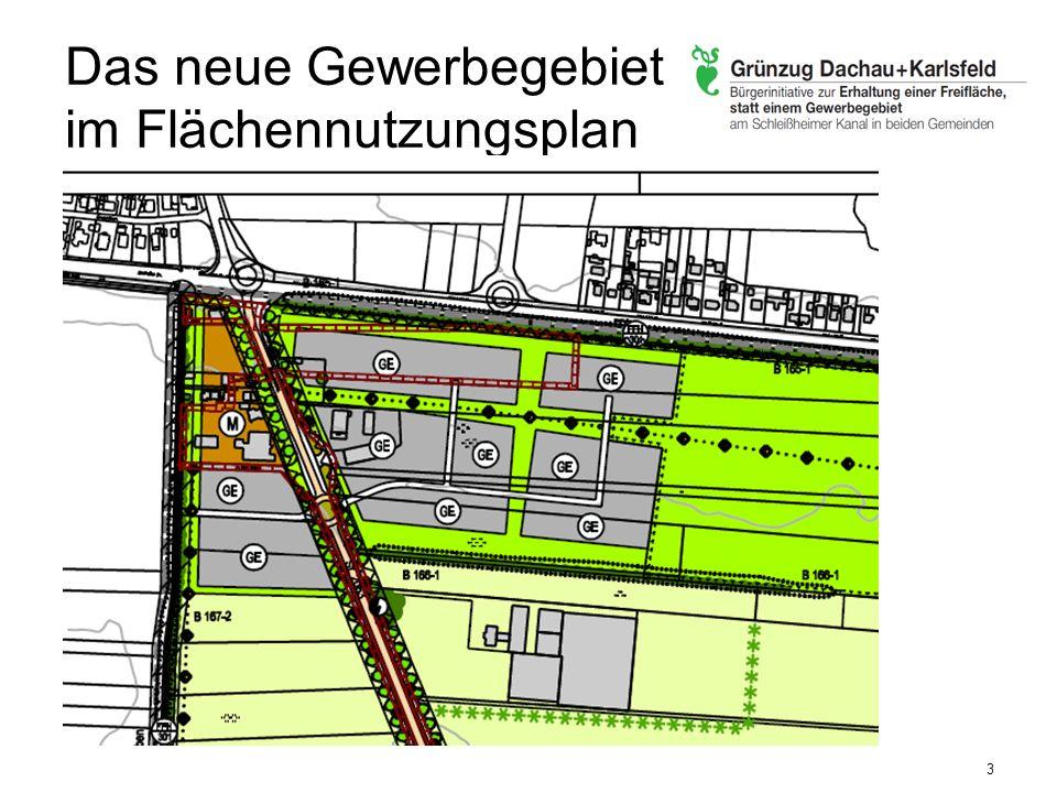 Blick über die Grenze: Gewerbegebiete 4 Gesamtplanung: Größe in qm (ca.) Karlsfelder Gewerbegebiet : 73.000 qm Schuster-Gelände 80.000 qm Seeber-Grundstück 80.000 qm Straße für mind.