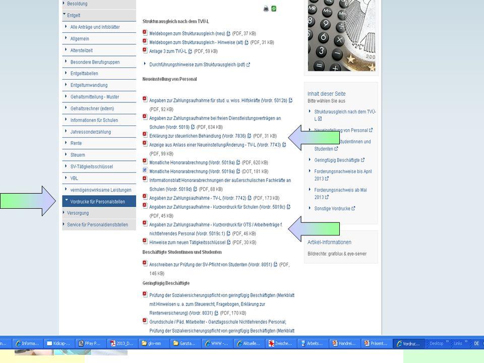 LBV OFD Niedersachsen Landesweite Bezüge- und Versorgungsstelle OFD-LBV Stand 04.2013 26 Vordrucke LBV