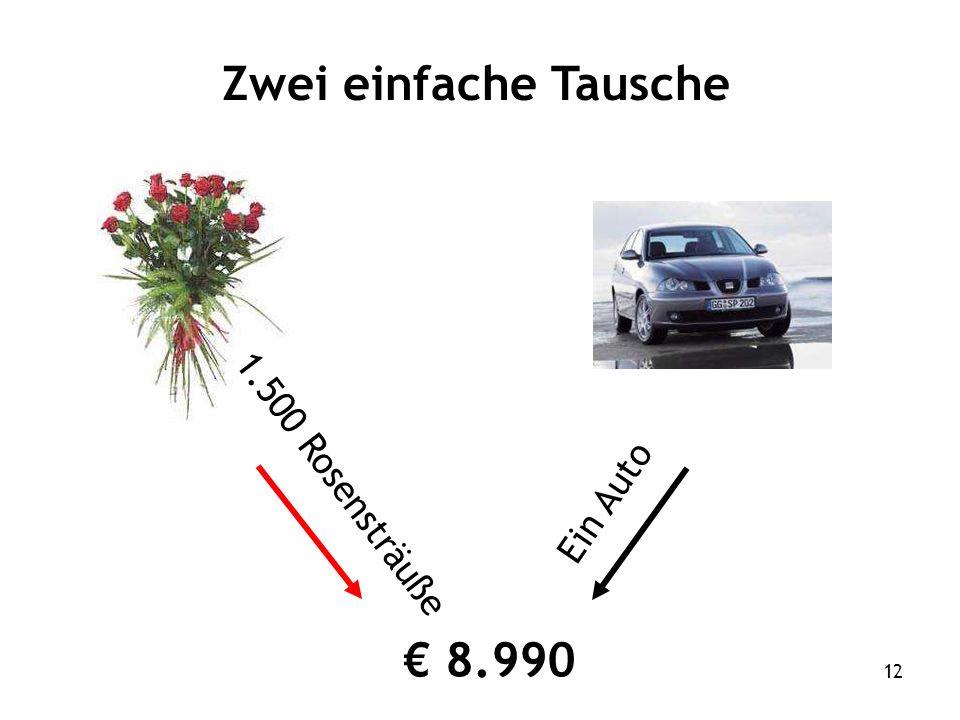 12 Zwei einfache Tausche 1.500 Rosensträuße Ein Auto 8.990