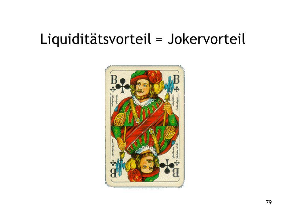 79 Liquiditätsvorteil = Jokervorteil