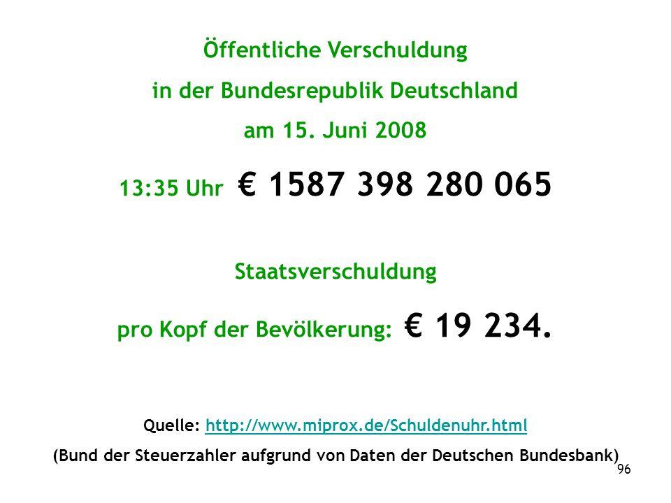 96 Öffentliche Verschuldung in der Bundesrepublik Deutschland am 15.