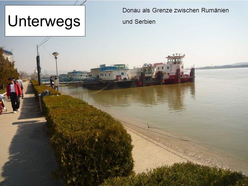 Unterwegs Donau als Grenze zwischen Rumänien und Serbien