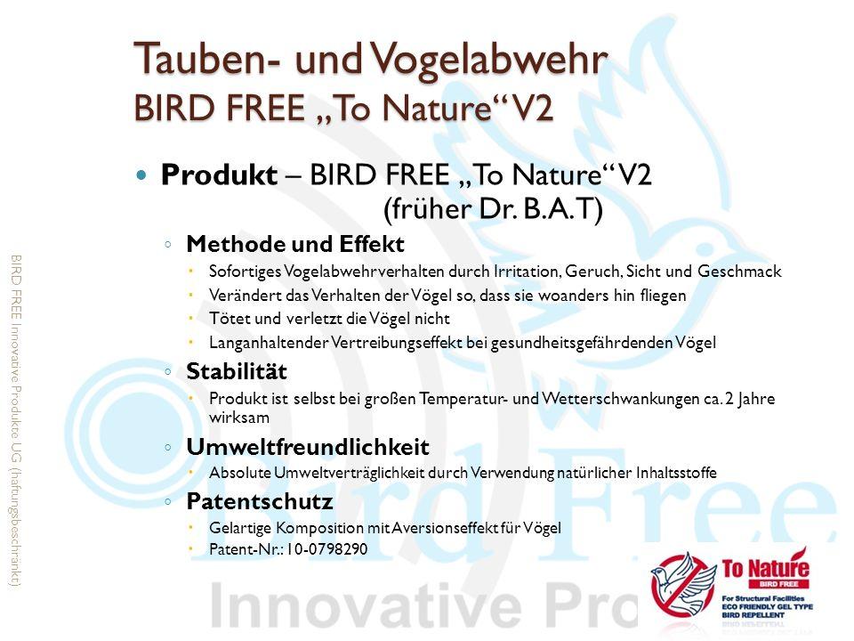 Tauben- und Vogelabwehr BIRD FREE To Nature V2 Produkt – BIRD FREE To Nature V2 (früher Dr. B.A.T) Methode und Effekt Sofortiges Vogelabwehrverhalten