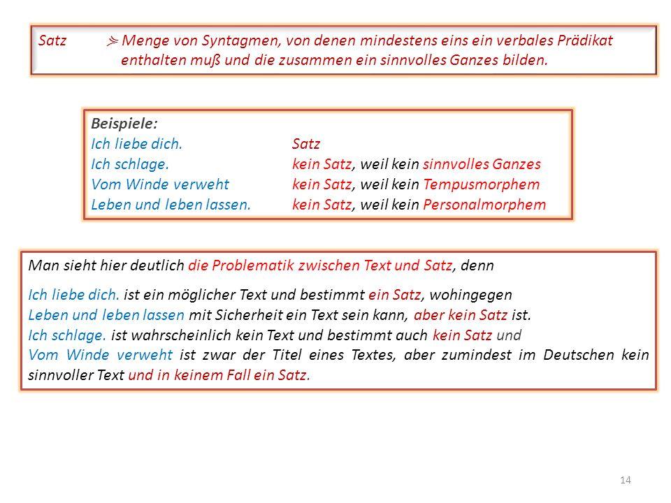 Tritt das Personalmorphem in syntaktischem Zusammenhang mit einem Morphem aus der Klasse der Verben auf, dann wird in vielen Sprachen entweder an das