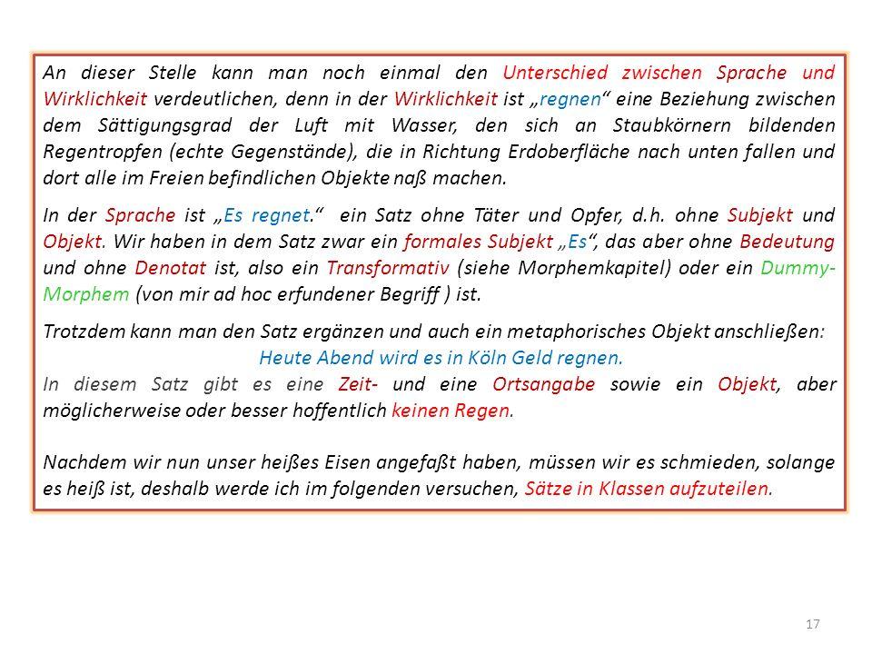 Natürlich wird sich jeder erfahrene Linguist leicht herauswinden können, aber er wird das Problem trotzdem nicht lösen, denn ein normaler Deutscher wi