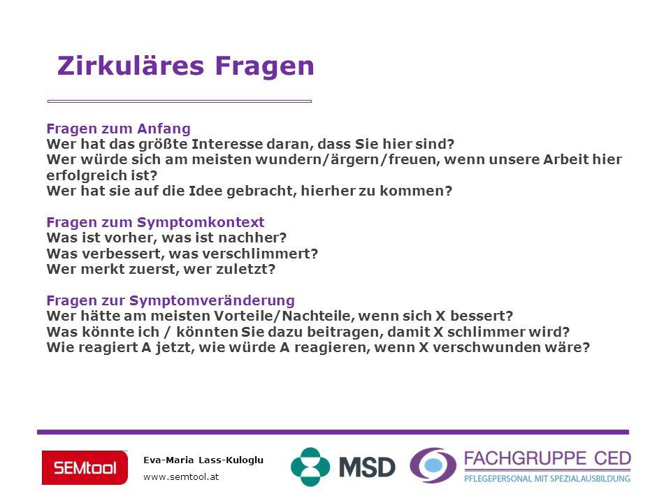 Eva-Maria Lass-Kuloglu www.semtool.at Fragen zum Anfang Wer hat das größte Interesse daran, dass Sie hier sind? Wer würde sich am meisten wundern/ärge