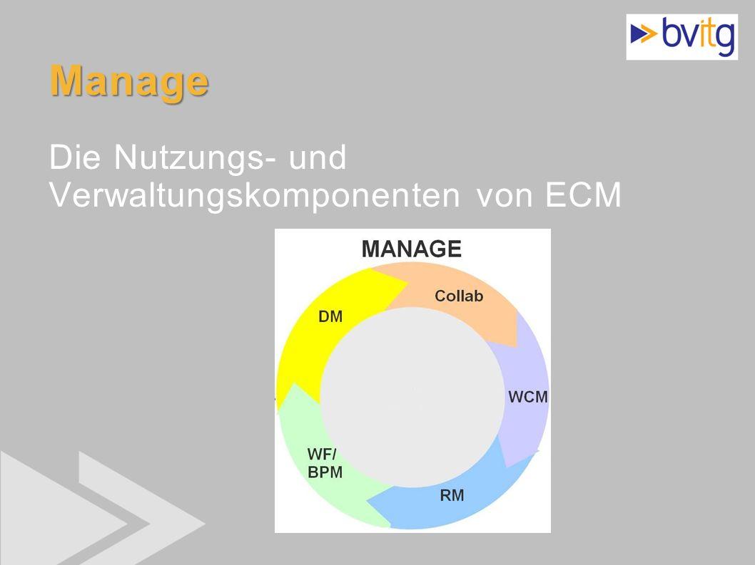 18 Manage Manage Die Nutzungs- und Verwaltungskomponenten von ECM