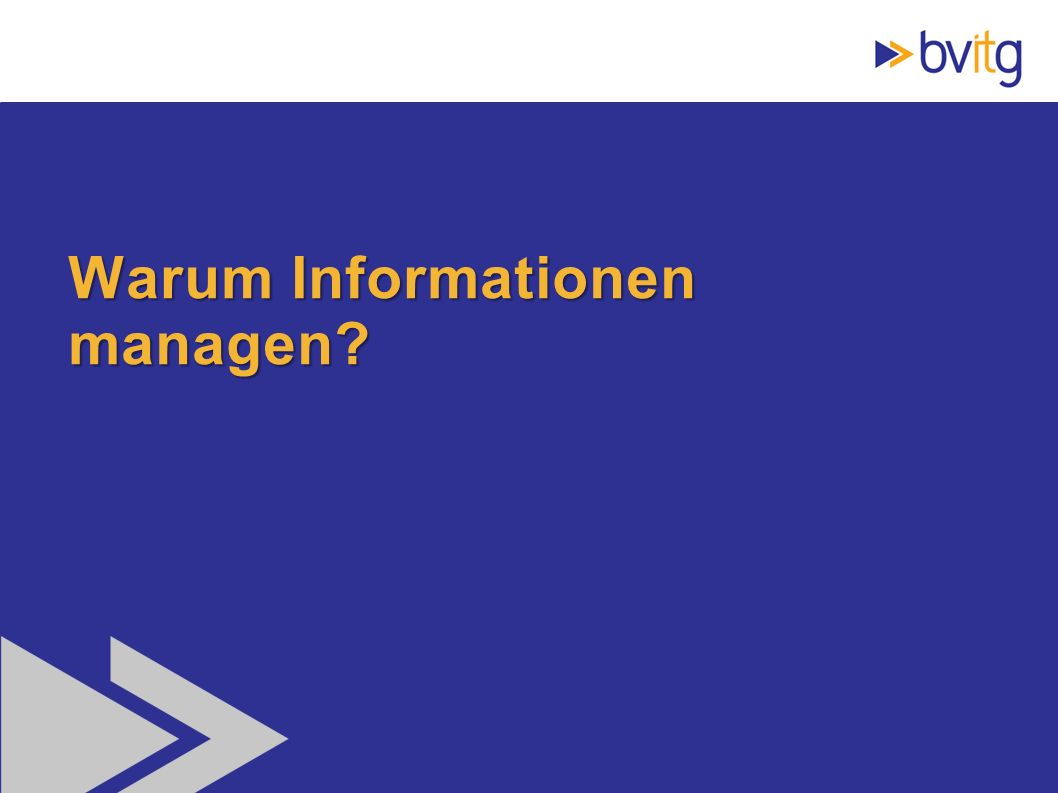 3 Warum Informationen managen?