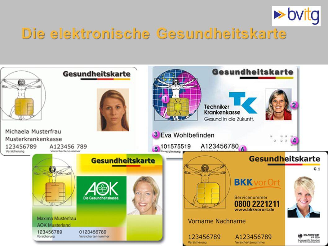 34 Die elektronische Gesundheitskarte Gesundheitskarte GKV- Modernisierungsgesetz: elektronische Gesundheitskarte gesetzlich festgelegt Sichtbare Elem