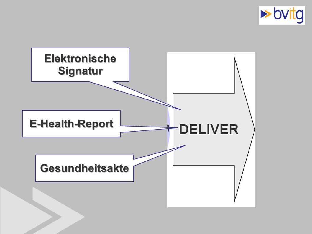44 Elektronische Signatur E-Health-Report Gesundheitsakte