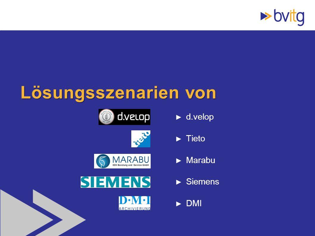 47 Lösungsszenarien von d.velop Tieto Marabu Siemens DMI