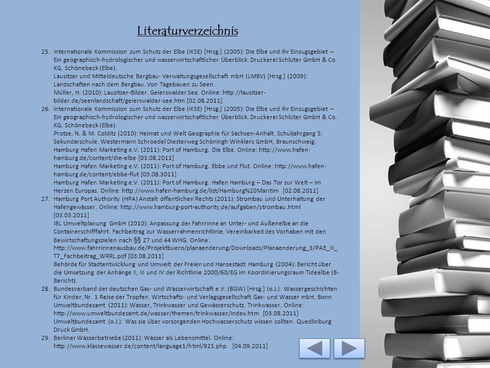 Literaturverzeichnis 19.Protze, N. & M. Colditz (2010): Heimat und Welt Geographie für Sachsen-Anhalt. Schuljahrgang 5. Sekundarschule. Westermann Sch