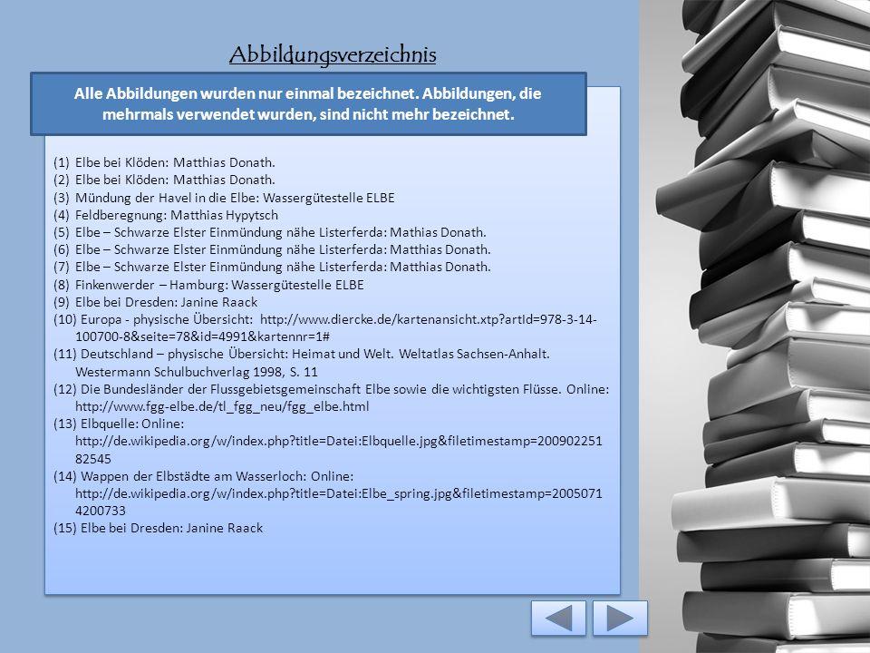 Literaturverzeichnis Animation: Bundesministerium für Umwelt, Naturschutz und Reaktorsicherheit (BMU) [Hrsg.] (2010): Die Wasserrahmenrichtlinie – Auf